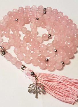 Malas de Agata Facetado Rosa 10 mm